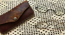 2 Pairs Antique Eyeglasses for Civil War, Victorian Reenactments, Theater, +Case