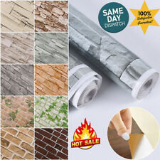 3D Wall Paper Stone Effect Self-adhesive Realistic Brick Wall Sticker Decor 32ft