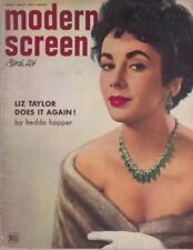 1952 Modern Screen March Featuring Liz Taylor Cover Magazine VG