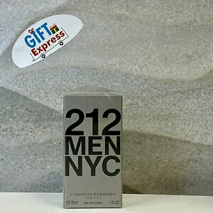 212 NYC Men by Carolina Herrera for Men 1.0 oz EDT Spray Brand New