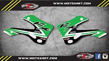 Kawasaki KX 250 - 1999 2000 2001 2002 original style tank shroud stickers decals