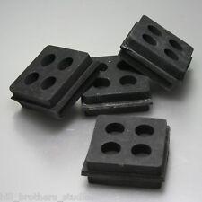 4 Anti-Vibration Rubber Pads 2X2 Heavy Duty Iso Padding