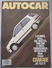 AUTOCAR magazine 6/5/1987 featuring Daihatsu Charade GTti road test, Mitsubishi