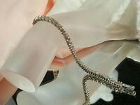 Very Nice Vintage Modernist Rhinestone Bracelet  398H