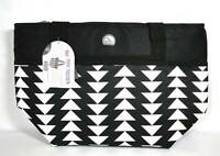 """NWT"" IGLOO Black & White Zippered Diamond Pyramid Lunch Box - 30 Can Size"
