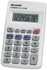 Sharp Calculators EL-233SB 8-Digit Pocket Calculator - EL233SB