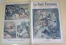 Le petit parisien 985 (1907) Allégorie Coup de grisou dans une mine