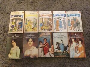 10 x Vintage Penguin Orange Paperback Books Bundle Classics Job Lot Collection