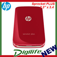 "HP Sprocket PLUS Mobile Photo Printer Red 2FR87A 2.3"" x 3.4"