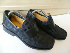 Patrick Cox Wannabe loafer UK 7 41 leather & monogram canvas vtg sq toe moccasin