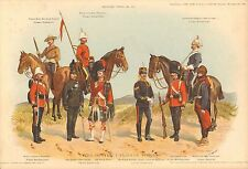 More details for 1900 richard simkin military print, 155 types of the canadian forces