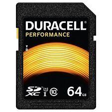 DURACELL 64GB SDHC Class 10 UHS-I U1 Memory Card for Digital SLR Cameras & more.