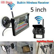 """wireless rearview system 5""""LCD auto monitor backup CCD camera for truck RV car"""