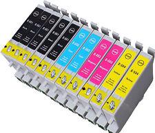 10x tinta cartuchos Non-Oem XL para Epson Stylus r240 r245 rx420 rx425 rx520