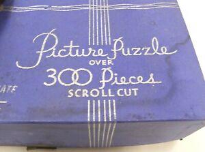 """VINTAGE ANTIQUE 1930's SILVER SEAL PICTURE JIGSAW PUZZLE """"GARDEN GATE"""" 303 PCS"""