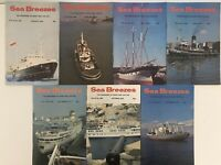 Sea Breezes Magazine of Ships & the Sea - 7 issues from 1979        (2)