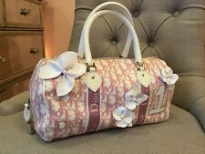 Authentic Pre-Owned Christian Dior Pink Monogram Canvas Flower Boston Bag
