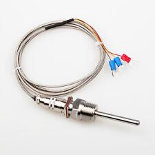 "RTD Pt100 Temperature Sensor Probe L 5cm 1/2"" NPT Thread w/ Detachable Connector"