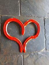 Horse shoe heart metal art heart love heart