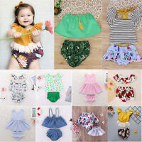 2pcs Summer Toddler Kids Baby Girls Cute Pepper Clothes Set Tops Shorts Outfits