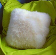 peau de mouton coussin (Blanc) Pelz TRÈS GRAND env. 50x50cm + intérieur