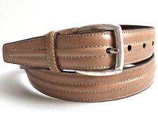 BACHRACH Men's Tanned European Cowhide Leather Belt SZ 38