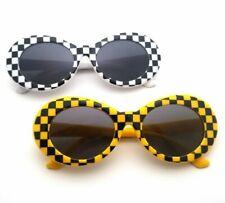 Checkered Clout Goggles Ovan Kurt Cobain Glasses Sunglasses Black Unisex Eyewear