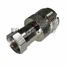UHF SO-239 Female Jack to F-Type Male Plug RF Coax Adapter Converter Connector