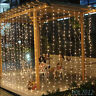 3Mx3M /6Mx4M 600LED String Fairy Lights Net Mesh Curtain Xmas Wedding Party Deco