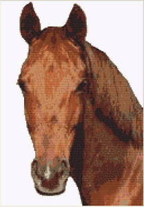 CROSS STITCH KIT -  HORSE     16CM X 26 CM