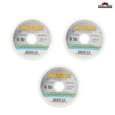 (3) Maxima Ultragreen Fly Fishing Leader Line 6lbs ~ New