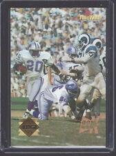 1995 EDGE TIME WARP 22 KARAT GOLD BARRY SANDERS LIONS / DEACON JONES RAMS CARD