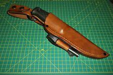 Custom Leather Knife Sheath Fit MORA GARBERG &  Kansbol, RH Belt, or Dangle