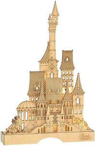 Enesco Centerpiece Figurine, basswood, Brown,Beauty & Beast Castle 16.26 Inch