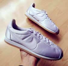 Nike Classic Cortez Satin Barely Grape Metallic Trainers Women Men UK 7 EU 41