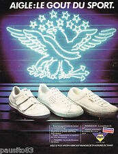 PUBLICITE ADVERTISING 075  1981  AIGLE   tennis baskets chaussures