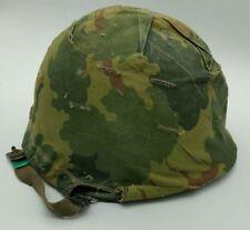 WW2 US Front Seam Swivel Bale M1 Helmet Vietnam Reissued + Liner & Cover