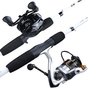 Sougayilang Carbon Fiber Spinning Casting Fishing Rod Ultralight Fishing Pole US