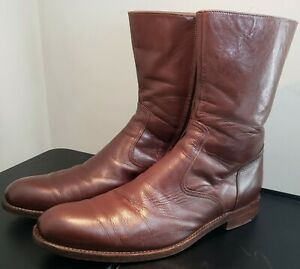 Vintage Mr. Billy's Hand Made Shoes Mens Leather Boots Side Zip Sz 11.5