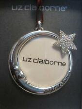 DATED 2017 SPARKLING BABY'S 1ST CHRISTMAS PHOTO FRAME ORNAMENT~LIZ CLAIBORNE~NWT