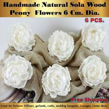 6 x Handmade Peony Sola Flowers Diffuser Craft Wedding Bouquet Natural Decor 3