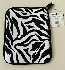 "Zebra Pattern Neoprene Zipper Case for small Ipad, Tablet, Kindle, etc. 10"" x 8."