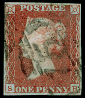 SG8, 1d red-brown, FINE USED. Cat £30. 4 MARGINS. SH
