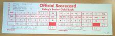 PGA GOLF RALEY'S SENIOR GOLD RUSH TOURNAMENT SCORECARD 2-69 J.C. SNEAD 10/16/93