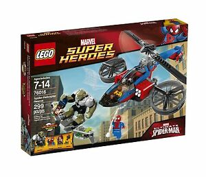 LEGO SUPERHEROES SPIDER-HELICOPTER RESCUE 76016