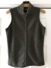 Ibex Women's Merino Wool Olive Green Zip Vest Size S Made In Usa