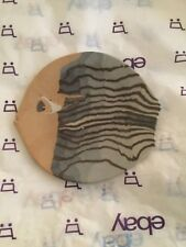 "EXCELLENT CONDITION 1993 Buzzard Mountain Pottery Fish Plate - 5.5""W x 6""L"