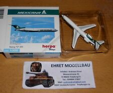 Boeing 727-200 Mexicana 1:500 HERPA wings 503082 collection privée (1) NEUF
