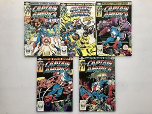 CAPTAIN AMERICA #s 268,269,270,271,272 MARVEL COMICS APR - AUG 1982