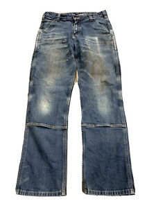 Carhartt Mens Blue Rugged Flex Double Front Relaxed Fit Pants Size 31x30 103329